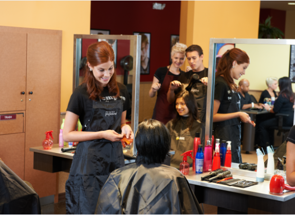 How to get the best hair cut by a student at a hair school ...
