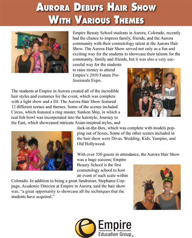 Aurora, CO Empire Beauty School Debuts