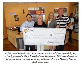 lauderhill fl beauty school donation shelter