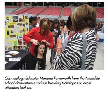 Cosmetology Students at Beauty Career Day