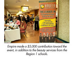 arizona empire beauty school participates domestic violence coalition gala event