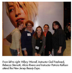 bordentown students staff attend jersey beauty expo