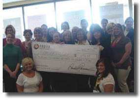 eden prairie empire beauty school donates