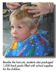 gwinnett students provide 100 free haircuts homeless children