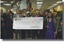 shelter receives donation queens school