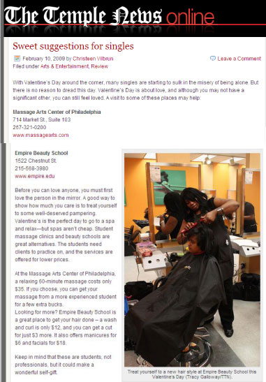 philadelphia pennsylvania empire beauty school featured temple news article sweet suggestions singles