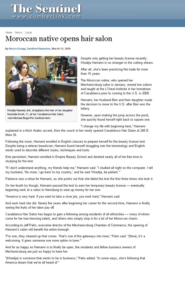 harrisburg pennsylvania empire beauty school featured sentinel article moroccan native opens hair salon