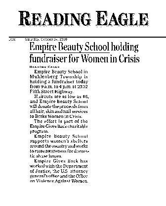 reading pennsylvania empire beauty school featured reading eagle article empire beauty school holding fundraiser women crisis