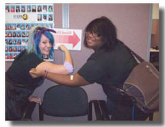 whitehall cosmetology students staff give blood