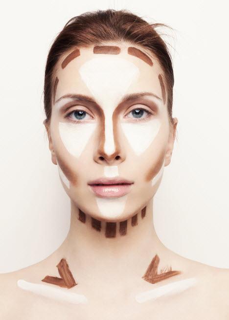 Right way contour highlight makeup your face shape