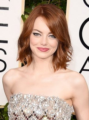 Best hairstyles for round faces emma stone shows off her short bob cut with waves urmus Gallery
