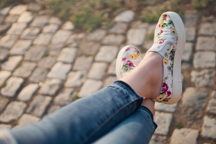 5c4f04e6f42e Do not be afraid of prints this season. Bold floral shoes can be a  show-stopping fashion accessory when added to a monochromatic outfit.