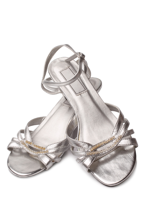 60e3208ebd92 Stack heeled silver sandals are the most perfect shoe of the summer. Silver  is a neutral that can work with casual