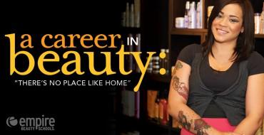 A beauty career: No place like home
