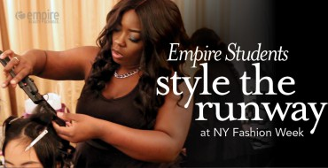 Empire Students work Fashion Week