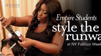 Empire Students work Fashion Week