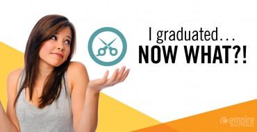 Graduating cosmetology school